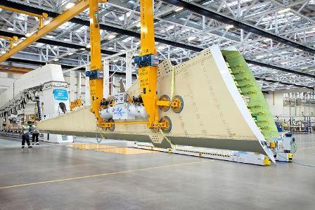 ボンバルディア社の翼部材製造工程