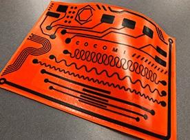 「COCOMI」を使用した電極、配線パターンのサンプル