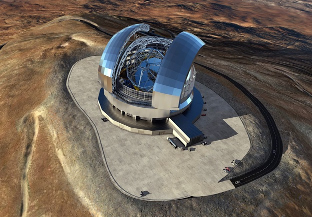 「ゼロデュア」が採用された超大型望遠鏡(ELT)の完成予想イメージ(写真提供 ESOL. Calçada)