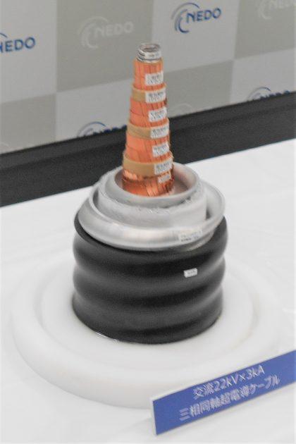実証試験に使われる超電導ケーブル