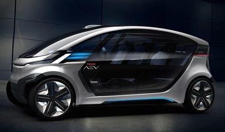 ガラス部分にグレージング技術を適用したAEV社コンセプトカー
