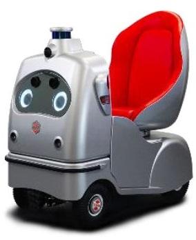 『エコニコール』は、ZMP社「Robocar Walk」のシートクッション(赤色部分)原料に採用された