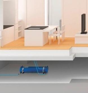 床下への飲料水貯留タンクの設置イメージ