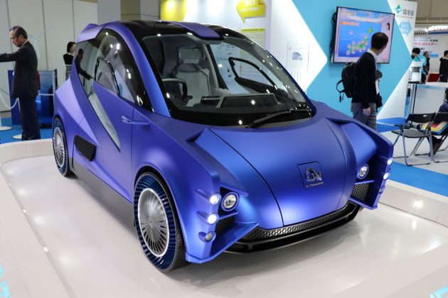「エコプロ2019」で展示した環境省のコンセプトカー「AGV」