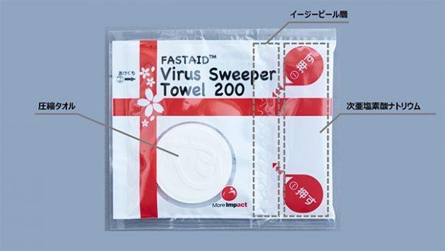「FASTAID ウイルス・スウィーパータオル200」