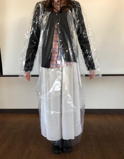本ガウンの装着イメージ
