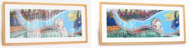 左・モスマイトなし 右・モスマイトあり  出典:秋野亥左牟・画 『プンクマインチャ』(福音館書店) ©1968 Kazuko Akino(秋野和子)