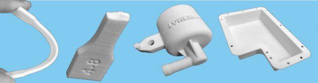 3D中面用写真2 PBTパウダーによる粉末造形3Dプリンタ造形品サンプル