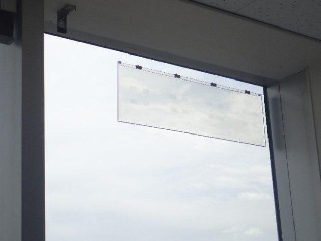ガラスアンテナWAVEATTOCHの貼付けイメージ
