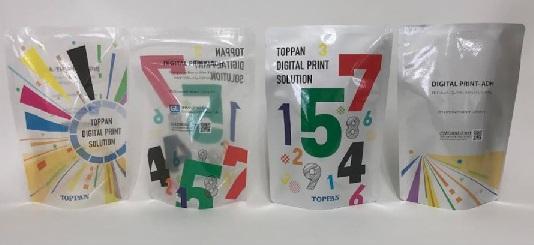 新開発した接着剤によりレトルト対応が可能になった製品サンプル