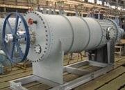 薄膜蒸発器(処理液から水や溶媒を蒸発させ、留分を濃縮する装置)