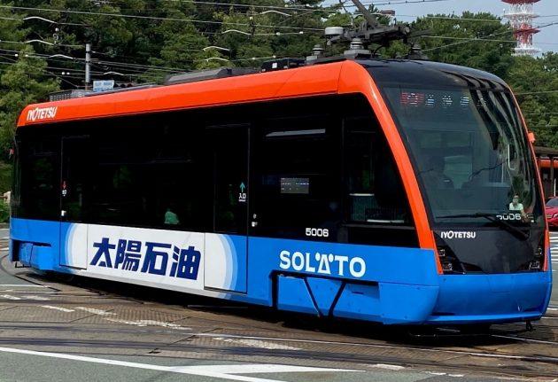 :『新型LRT車両』へのラッピング広告