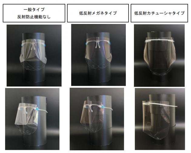 低反射フェイスシールド2種類発売