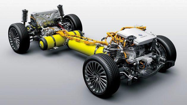 新型『MIRAI』の燃料電池ユニット(写真協力:トヨタ自動車)
