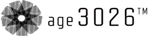アパレルブランド「age3026」ロゴ