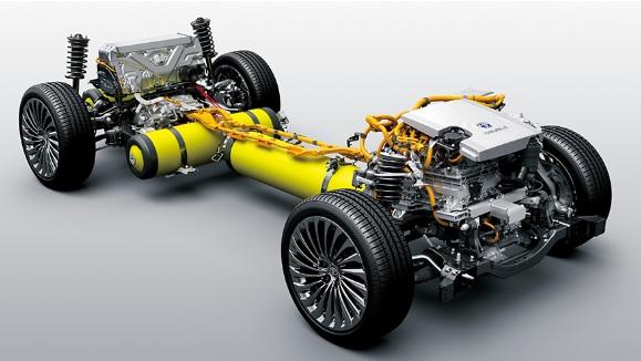トヨタ新型FCV『MIRAI』の内部構造イメージ図