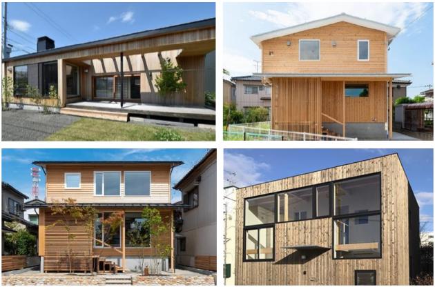 :「 ネオマフォーム 」を使用した木 外壁材仕様の住宅例
