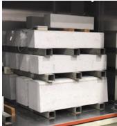 試験製造したCO2吸収コンクリート