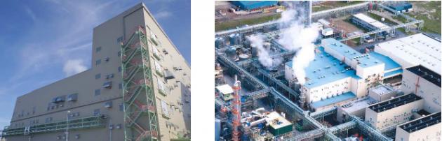 ベルギーNSE社の全景とSAP製造プラント