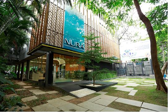 今年2月にインドに開設した健診センター「NURA」