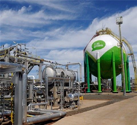 ブラスケムのバイオエチレンプラント=トリウンフォ石油化学コンプレックス内(ブラジル)